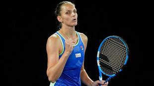 Karolina Pliskova, en un torneo.