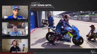 Rins y Schwantz, en la charla en motogp.com,