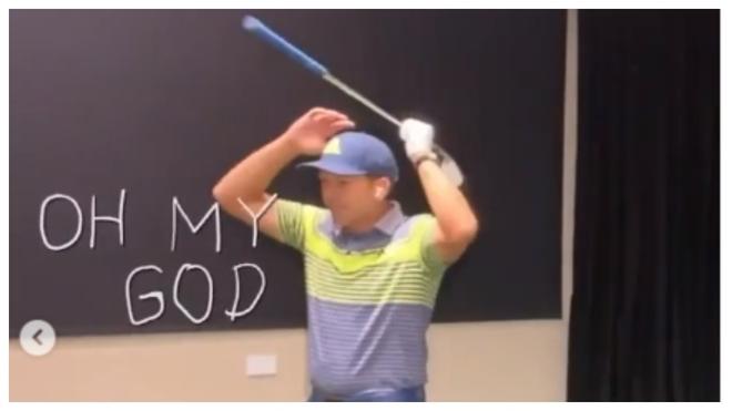 Sergio García bromea durante el torneo virtual
