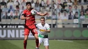 Havertz, en el partido que enfrentó al Bayer Leverkusen con el...