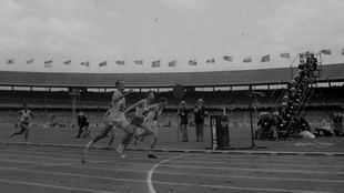 Boby Morrow, en los Juegos Olímpicos de Melbourne 1956