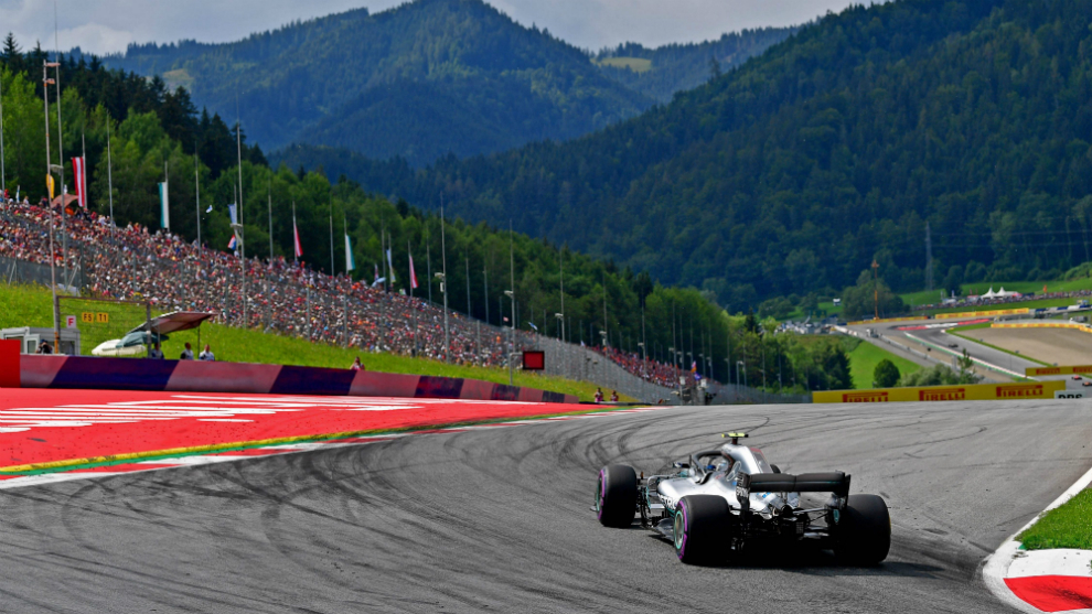 Bottas, durante un GP de Austria.