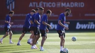 Entrenamiento del Atlético desde el regreso a la actividad.