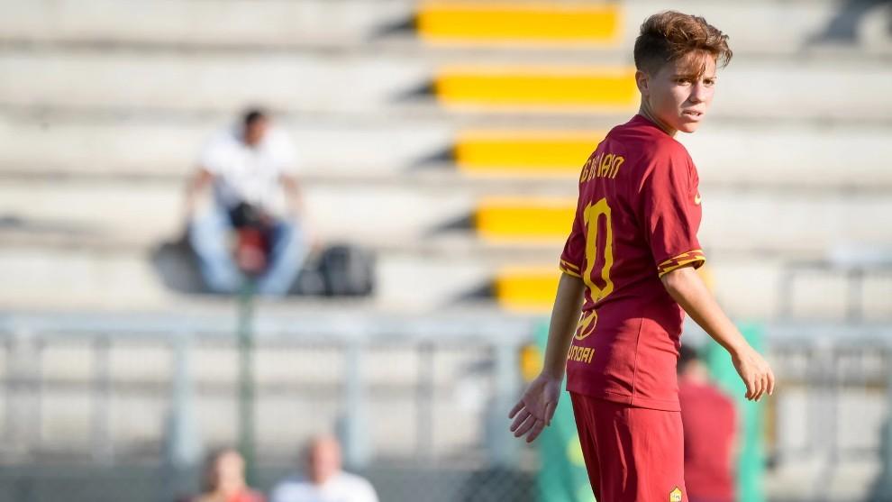 Manuela Giugliano, durante un partido con la Roma esta temporada.