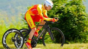 El ciclista Joan Reinoso.