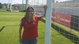 Gemma Gili posa para MARCA en la Ciudad del Fútbol de Las Rozas.
