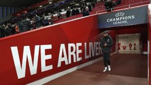 Simeone, en octavos de la anterior Champions ante el Liverpool.