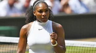 Serena Williams, durante un partido en Wimbledon