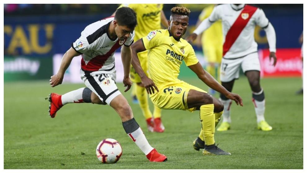 Velázquez, en un partido ante el Villarreal