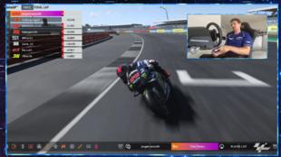 Lorenzo, en la carrera virtual de MotoGP.