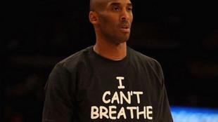 La playera que usó Kobe en 2014, tras la muerte de Eric Garner.
