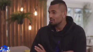Kyrgios, durante la entrevista en televisión