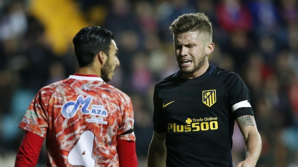 Caio, en su debut con el Atlético en la Copa 16-17 en Guijuelo.