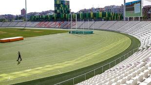 El estadio de Vallehermoso.