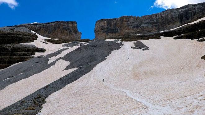 Vista de la Brecha de Rolando, lugar del accidente de los esquiadores.