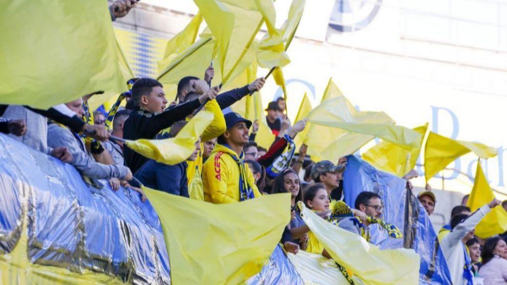 Aficionados de Las Palmas en el Gran Canaria