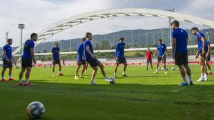 Entrenamiento del Athletic Club en Lezama.