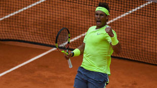 Rafa Nadal en la semifinal de 2019 de Roland Garros.