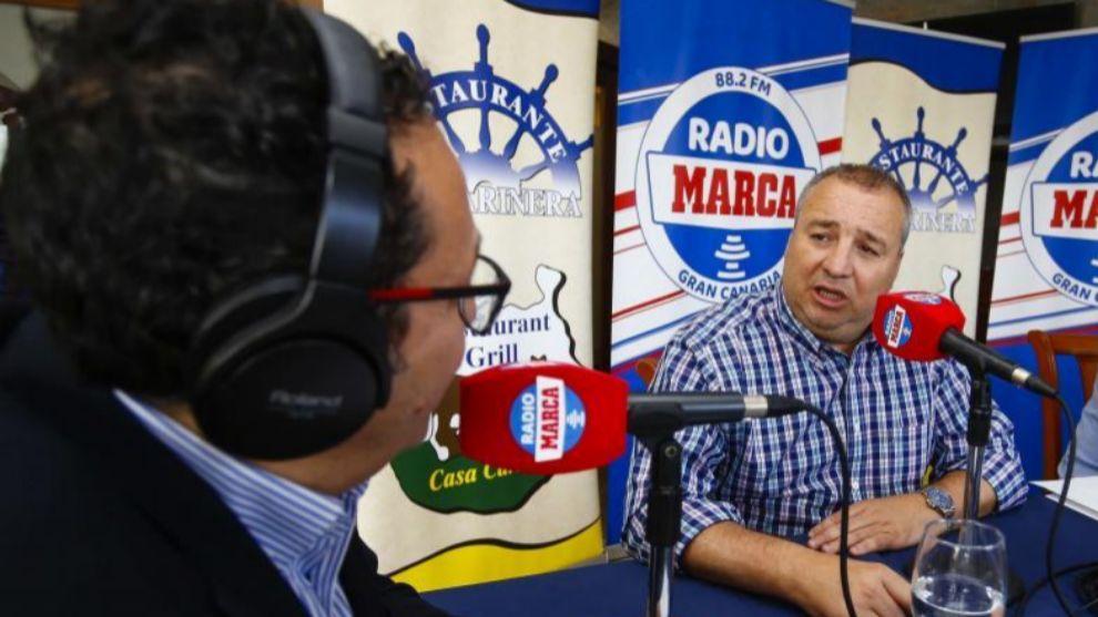 Miguel Ángel Ramírez, presidente de Las Palmas junto a Vicente...