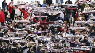 Aficionados del Albacete Balompié en un partido del equipo manchego