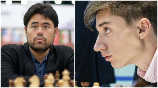 Hikaru Nakamura y Danil Dúbov.