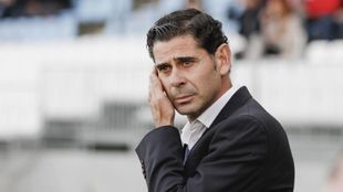 Fernando Hierro, en la banda del Juegos Mediterráneos