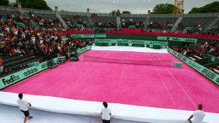 La mítica pista 1 de Roland Garros