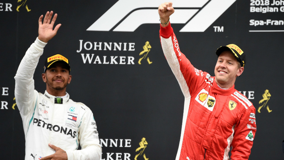 Lewis Hamilton y Sebastian Vettel.