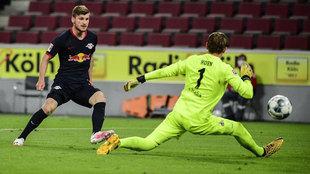 Werner marca ante el Colonia.