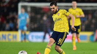 Dani, en un partido con el Arsenal