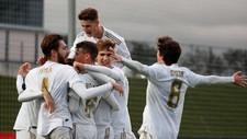 El Juvunil A celebra un gol en el partido de la Youth League ante el...