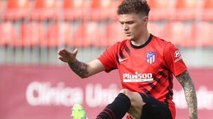 Kieran Trippier training with Atletico.