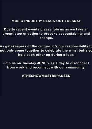 BlackOut Tuesday: apagón musical por la lucha antirracista