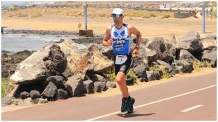 Eneko Llanos, durante la disputa del Ironman de Lanzarote en 2009.