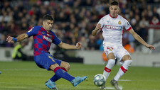 Imagen del Barcelona-Mallorca de la primera vuelta