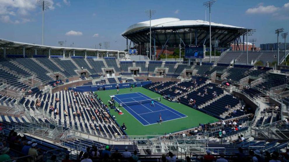 Una vista de las pistas del Bilie Jean King Tennis Center