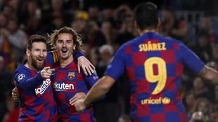 Messi, Griezmann y Luis Suárez