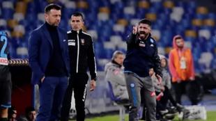 Gattuso con el Napoli