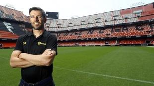 David Albelda en Mestalla.
