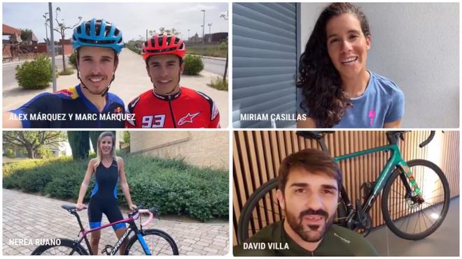 Los Márquez, Villa, Arbeloa, Perico Delgado, Feliciano... los deportistas nos animan a movernos en bici