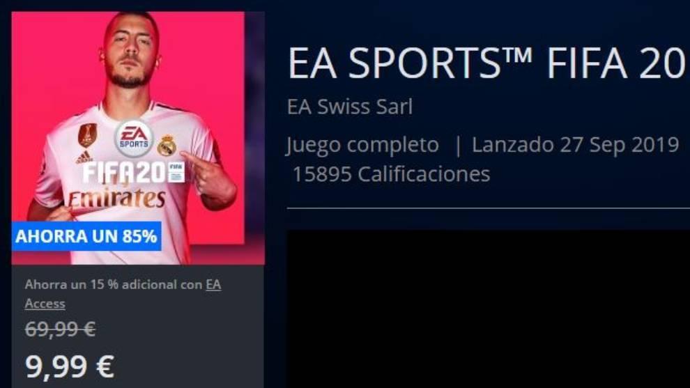 Descuentazo de FIFA 20 en PlayStation Store