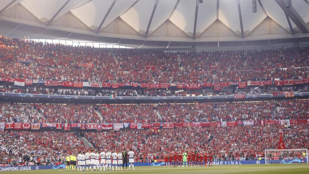 Imagen del Wanda Metropolitano en la final de la Champions de la...