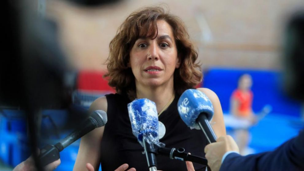 Irene Lozano, atendiendo a los medios de comunicación hace unos días