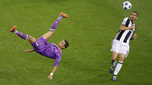 Cristiano ante la Juventus.