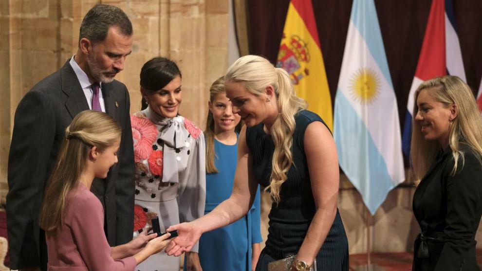 Lindsey Vonn fue la ganadora del Premio Príncipe de Asturias