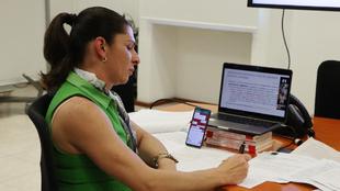 Ana Guevara tuvo una reunión virtual con atletas y diputados para...