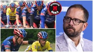 Montaje de imágenes con Jonathan Vaughters, Lance Armstrong y el...