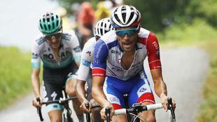 Thibaut Pinot, del Groupama FDJ, durante la 15ª etapa del Tour de...