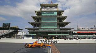 Fernando Alonso, en Indy en 2019.