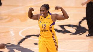 Chelsea Gray, en su etapa como jugadora de L.A. Sparks de la WNBA